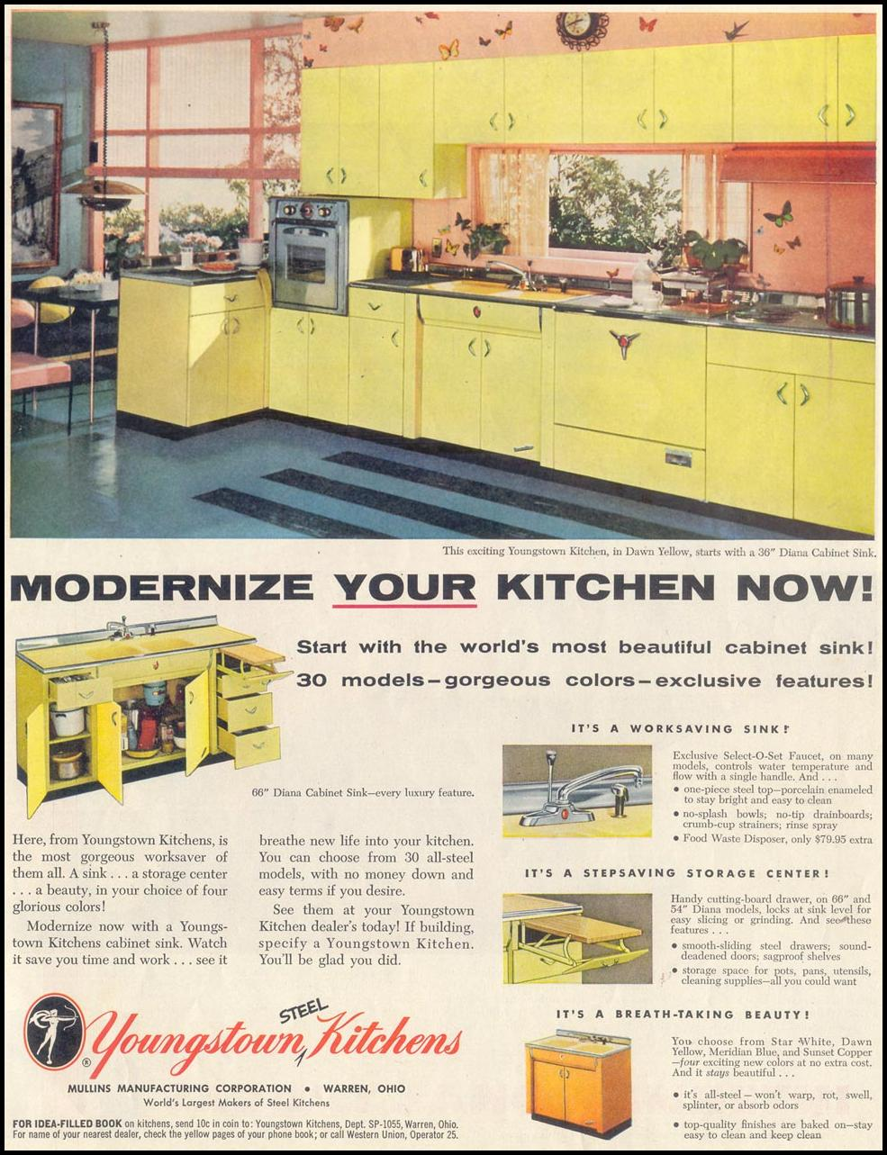 YOUNGSTOWN STEEL KITCHENS SATURDAY EVENING POST 10/29/1955