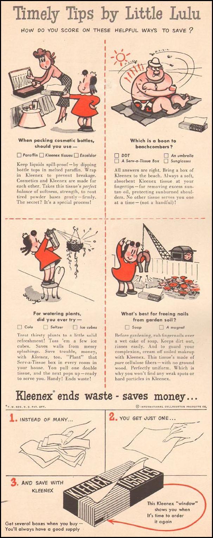 KLEENEX TISSUES LIFE 07/02/1951 p. 30