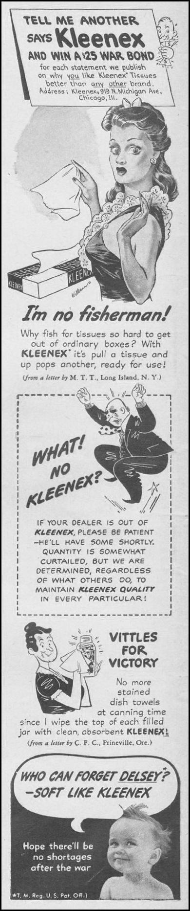 KLEENEX TISSUES LIFE 08/09/1943 p. 4