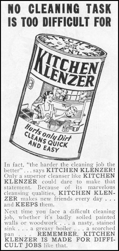 KITCHEN KLENZER WOMAN'S DAY 10/01/1939 p. 45