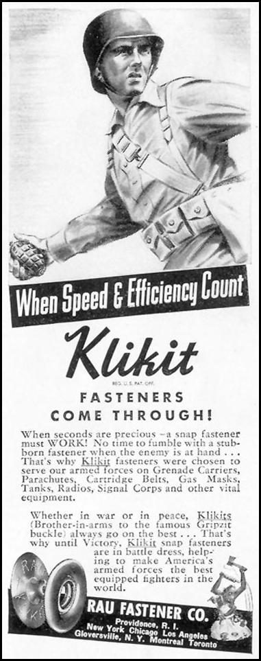 KLIKIT FASTENERS LIFE 01/18/1943 p. 67