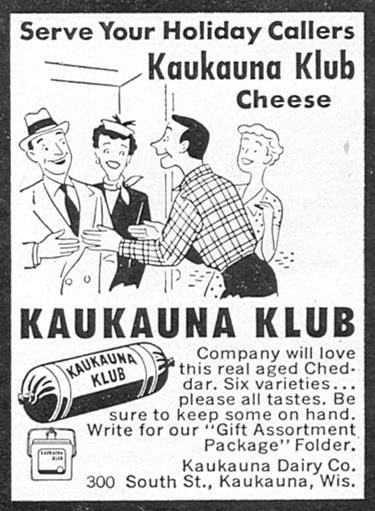 KAUKAUNA KLUB CHEESE WOMAN'S DAY 12/01/1954 p. 138