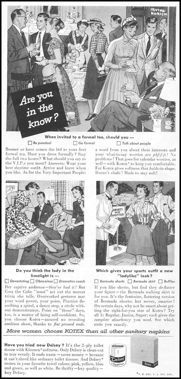 KOTEX WOMAN'S DAY 09/01/1955 p. 97