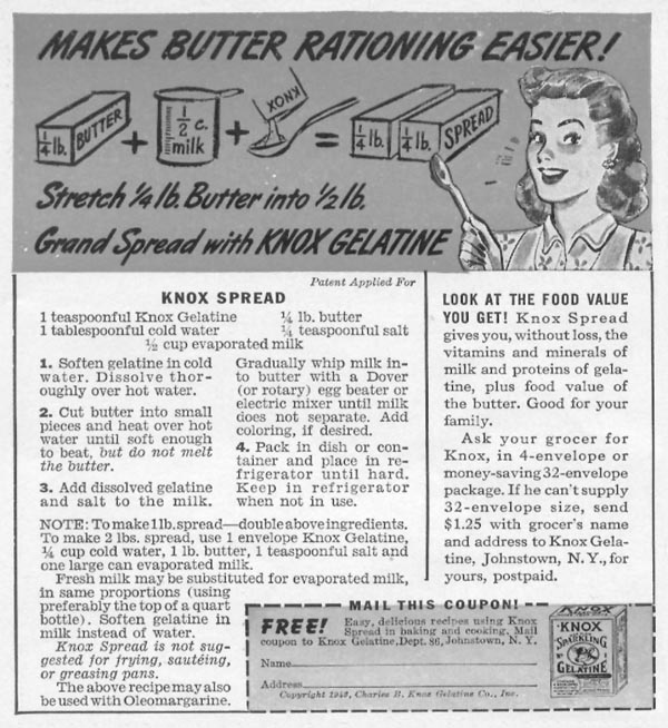 KNOX GELATINE WOMAN'S DAY 05/01/1943 p. 60