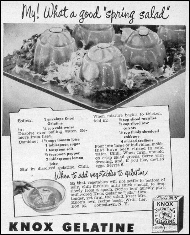 KNOX GELATINE WOMAN'S DAY 05/01/1947 p. 117
