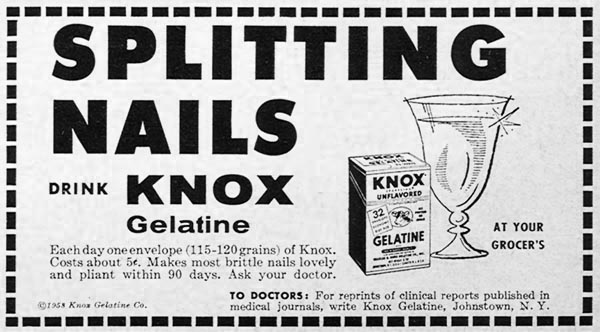 KNOX UNFLAVORED GELATINE WOMAN'S DAY 06/01/1958 p. 93