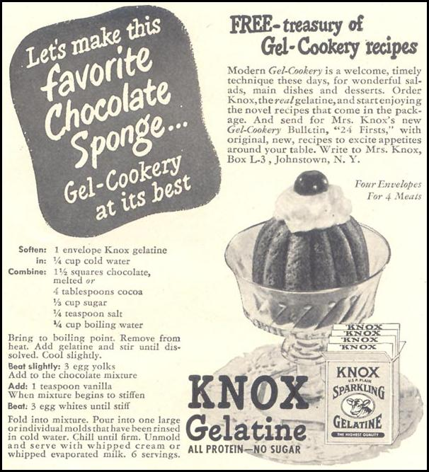 KNOX GELATINE GOOD HOUSEKEEPING 07/01/1948 p. 229