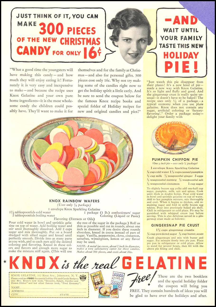 KNOX SPARKLING GELATINE GOOD HOUSEKEEPING 12/01/1934