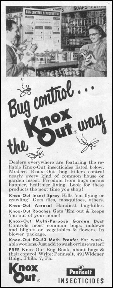 KNOX OUT INSECTICIDES LIFE 07/12/1954 p. 80