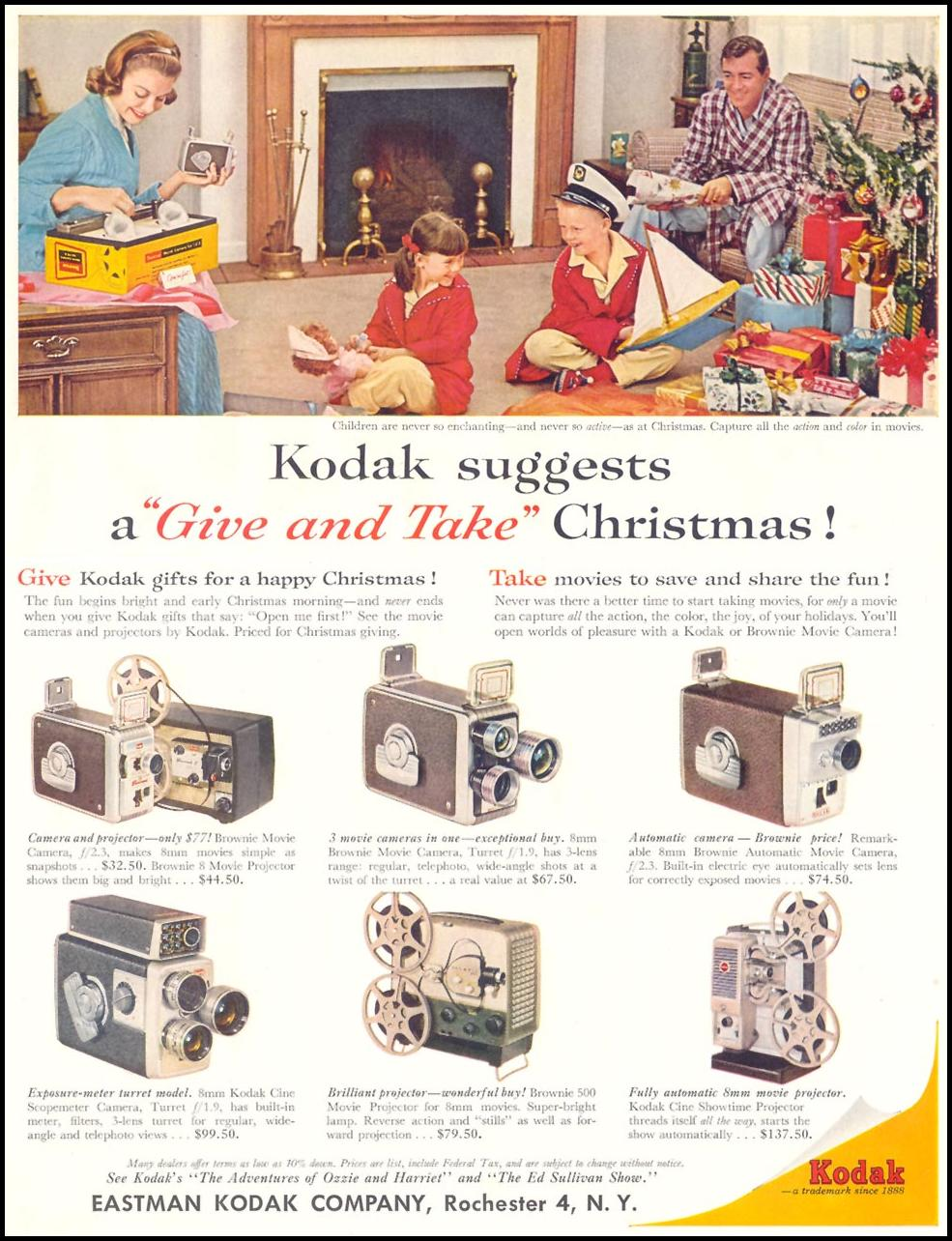 KODAK BROWNIE MOVIE CAMERAS LIFE 12/14/1959 p. 83