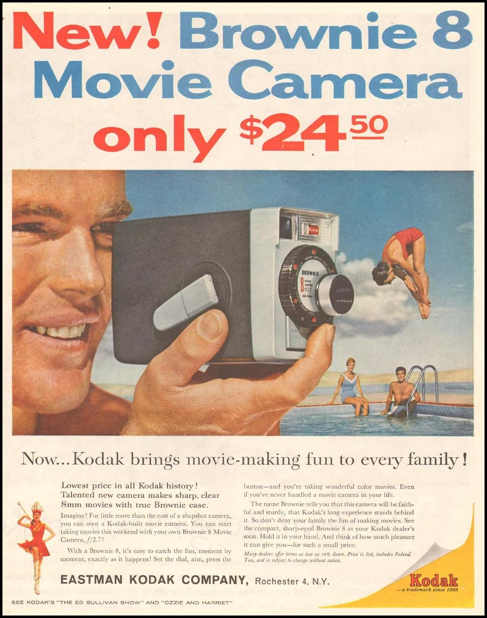 BROWNIE MOVIE CAMERA SATURDAY EVENING POST 06/11/1960 p. 67