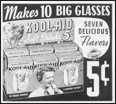 KOOL-AID SOFT DRINK MIX WOMAN'S DAY 06/01/1939 p. 45