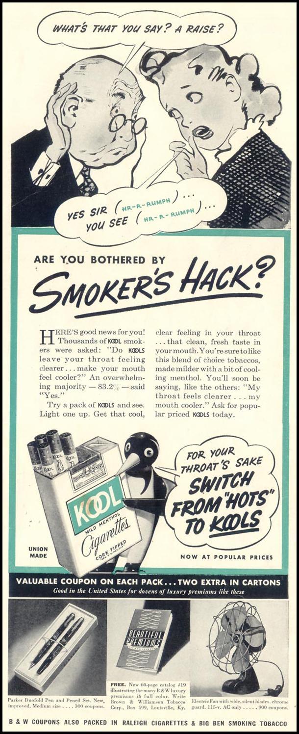 KOOL CIGARETTES LIFE 06/23/1941 p. 49