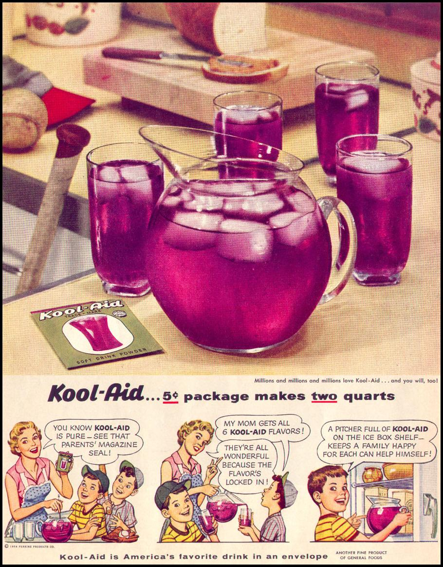 KOOL-AID SOFT DRINK MIX LIFE 07/12/1954 p. 92