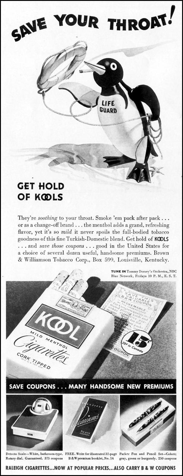 KOOL CIGARETTES LIFE 10/04/1937 p. 64