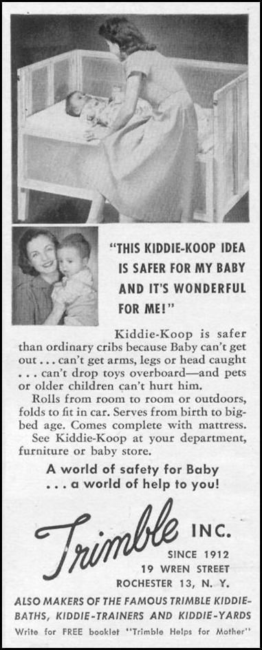 KIDDIE-KOOP CRIB LIFE 06/05/1950 p. 70