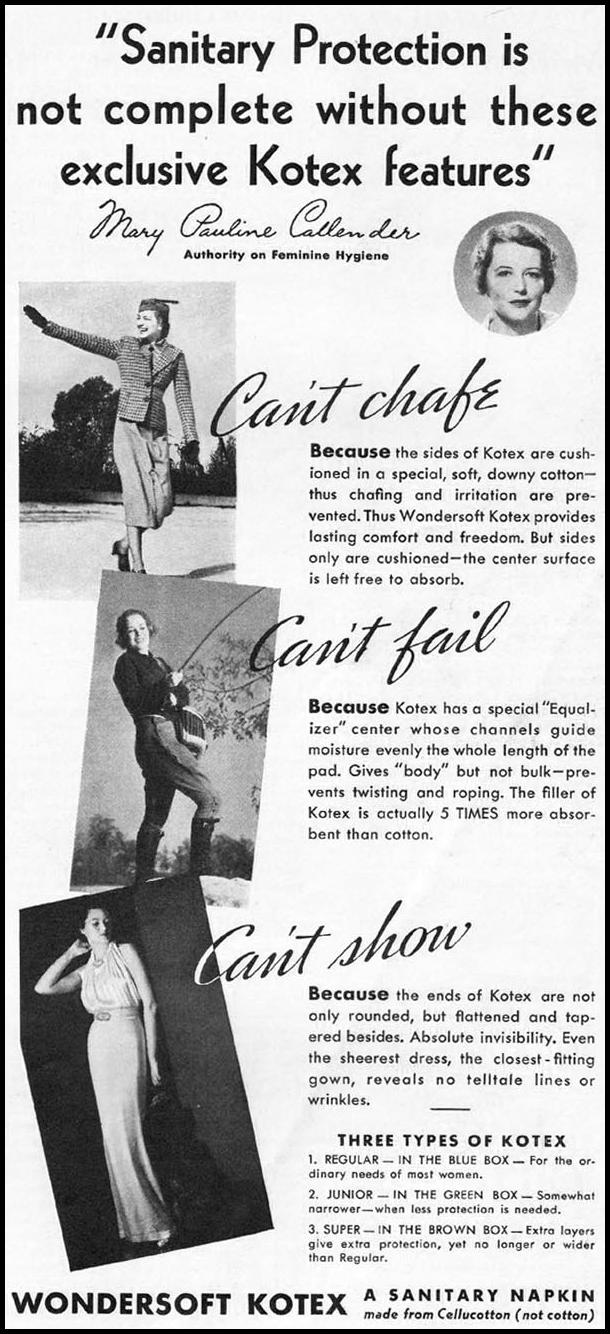 KOTEX BETTER HOMES AND GARDENS 05/01/1936 p. 101