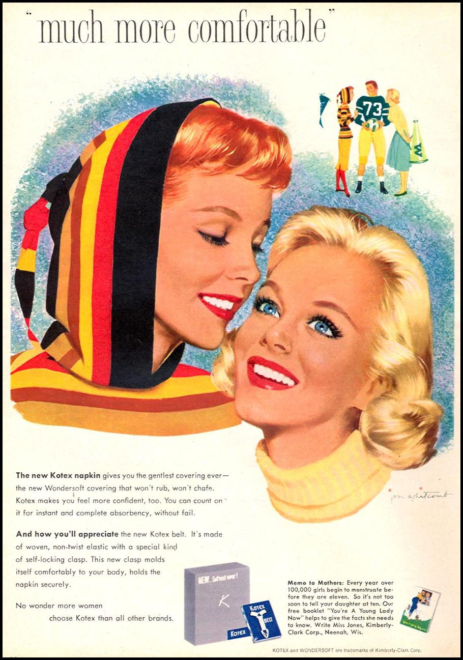 KOTEX FAMILY CIRCLE 11/01/1957 p. 20