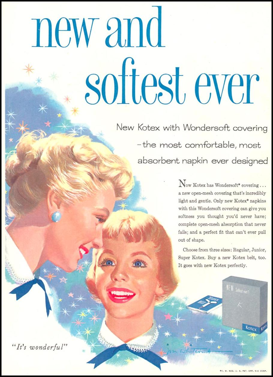 KOTEX WOMAN'S DAY 10/01/1956 p. 28
