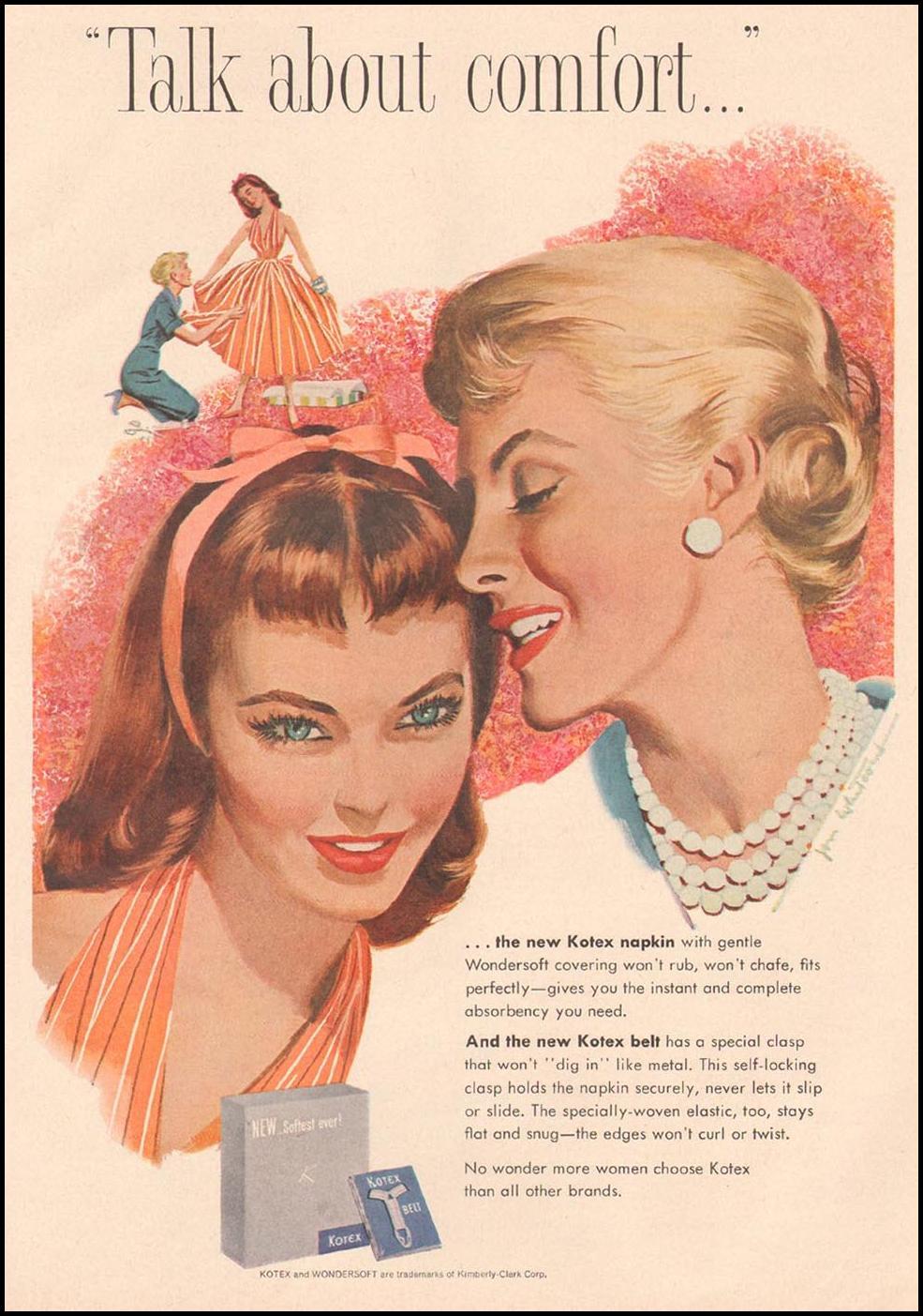 KOTEX GOOD HOUSEKEEPING 05/01/1957 p. 33