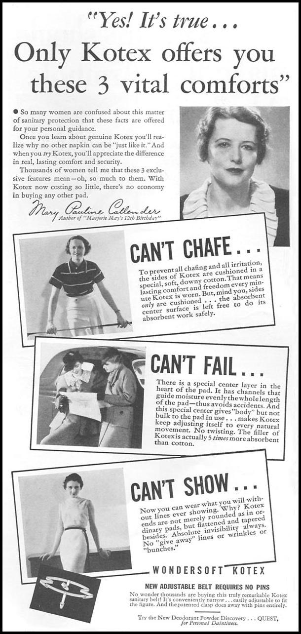 KOTEX GOOD HOUSEKEEPING 06/01/1935 p. 172