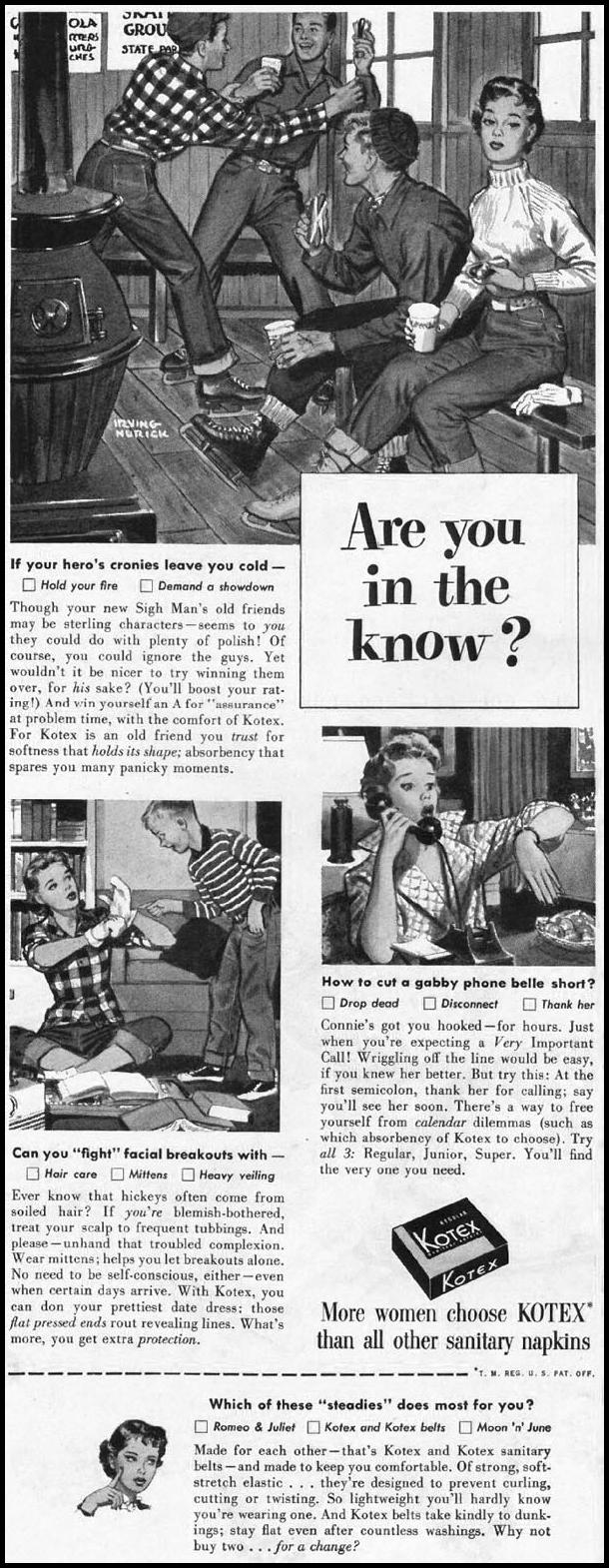 KOTEX LADIES' HOME JOURNAL 03/01/1954 p. 96