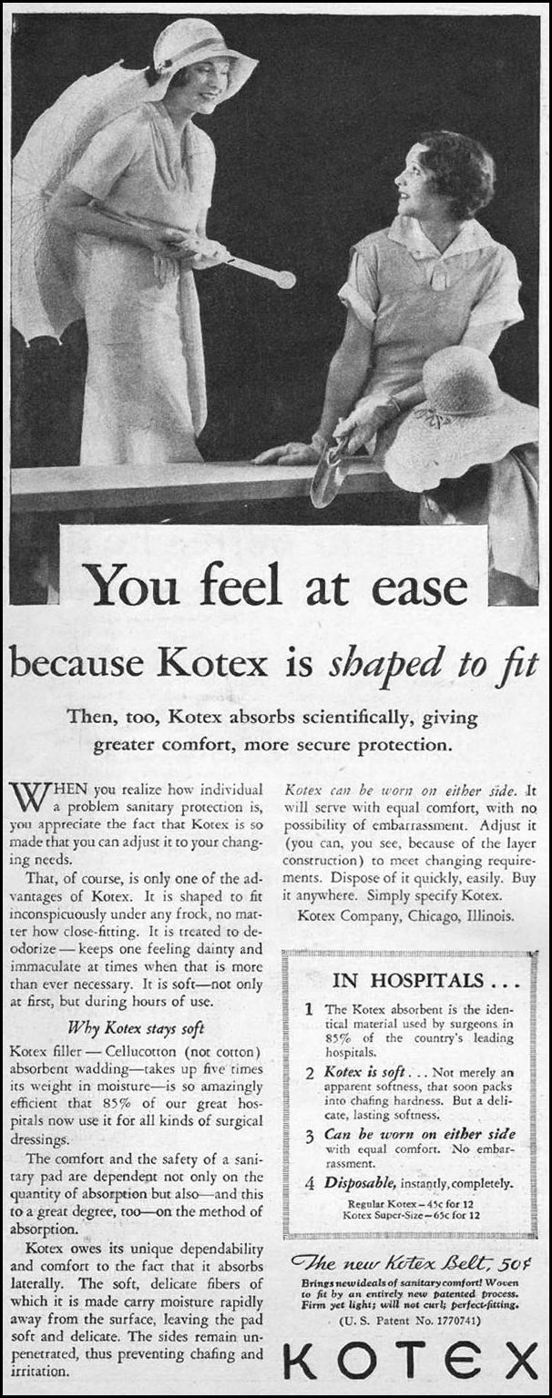 KOTEX THE HOME MAGAZINE 05/01/1931 p. 23