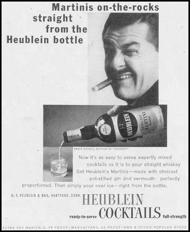 HEUBLEIN COCKTAILS LIFE 11/11/1957 p. 130