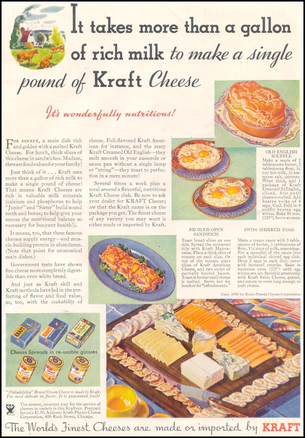 KRAFT CHEESE GOOD HOUSEKEEPING 03/01/1935