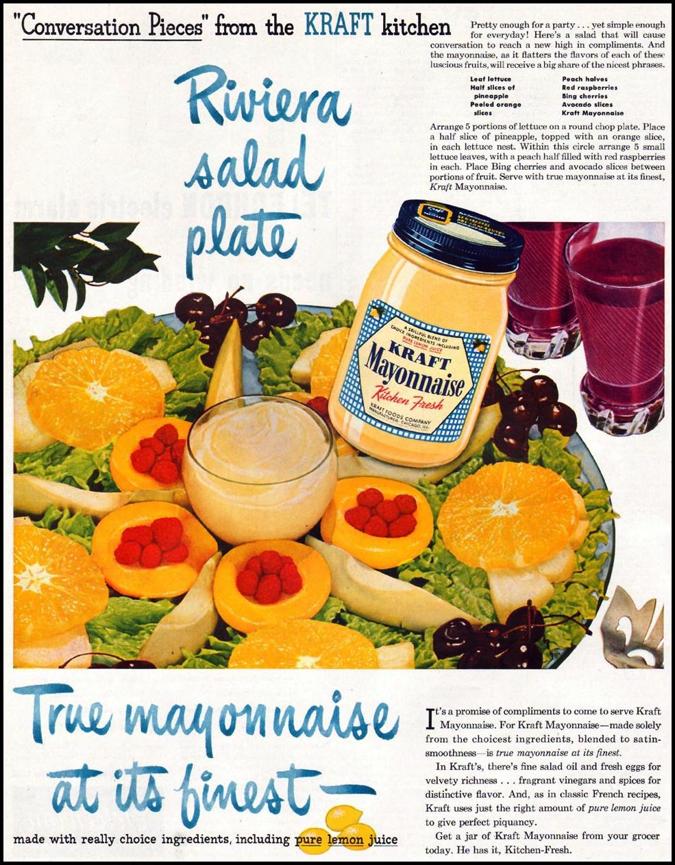 KRAFTMAYONNAISE LADIES' HOME JOURNAL 07/01/1949 p. 102