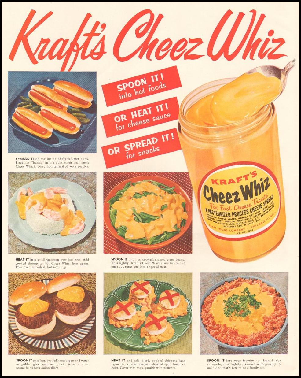 CHEEZ WHIZ LADIES' HOME JOURNAL 03/01/1954