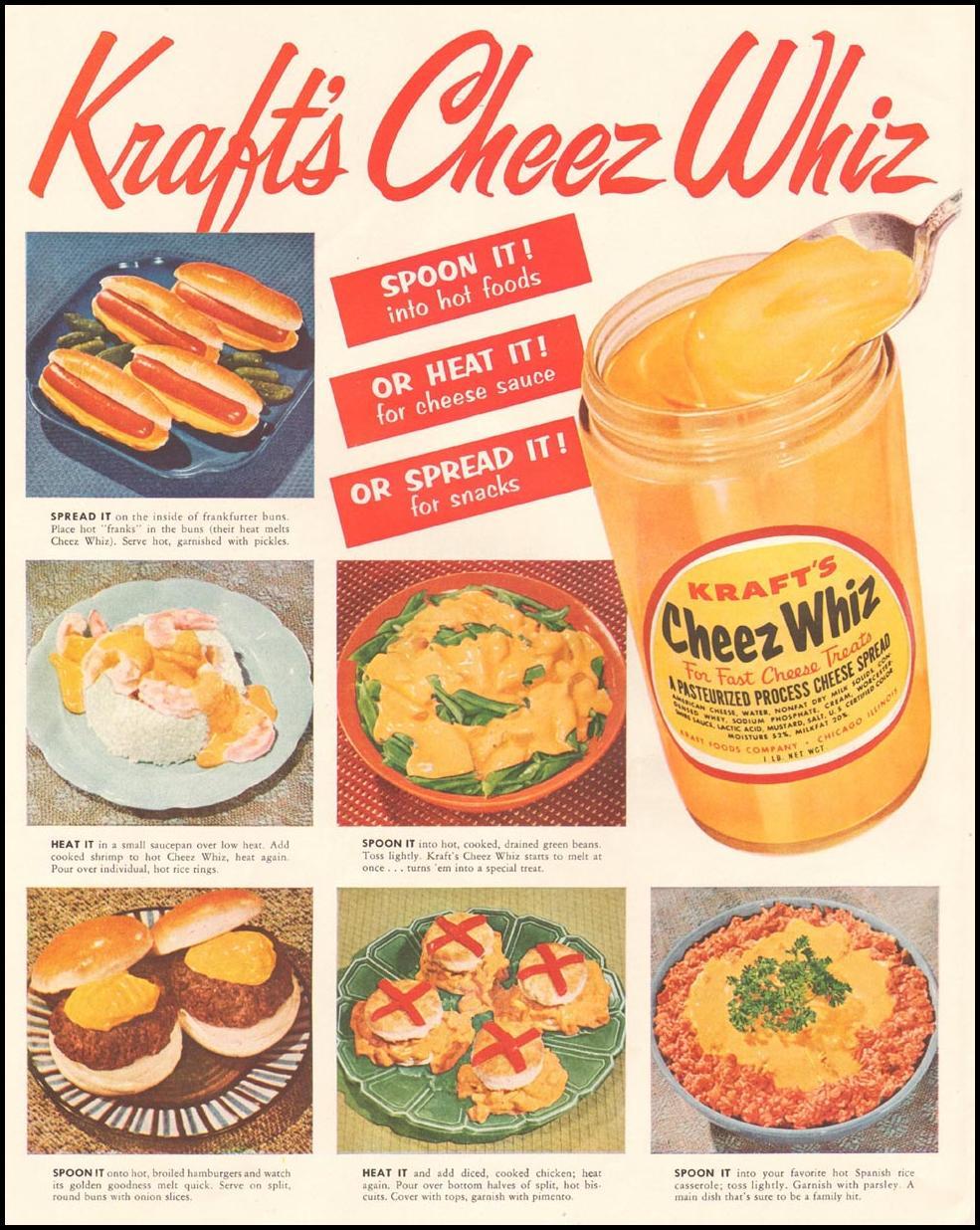 CHEEZ WHIZ LADIES' HOME JOURNAL 03/01/1954