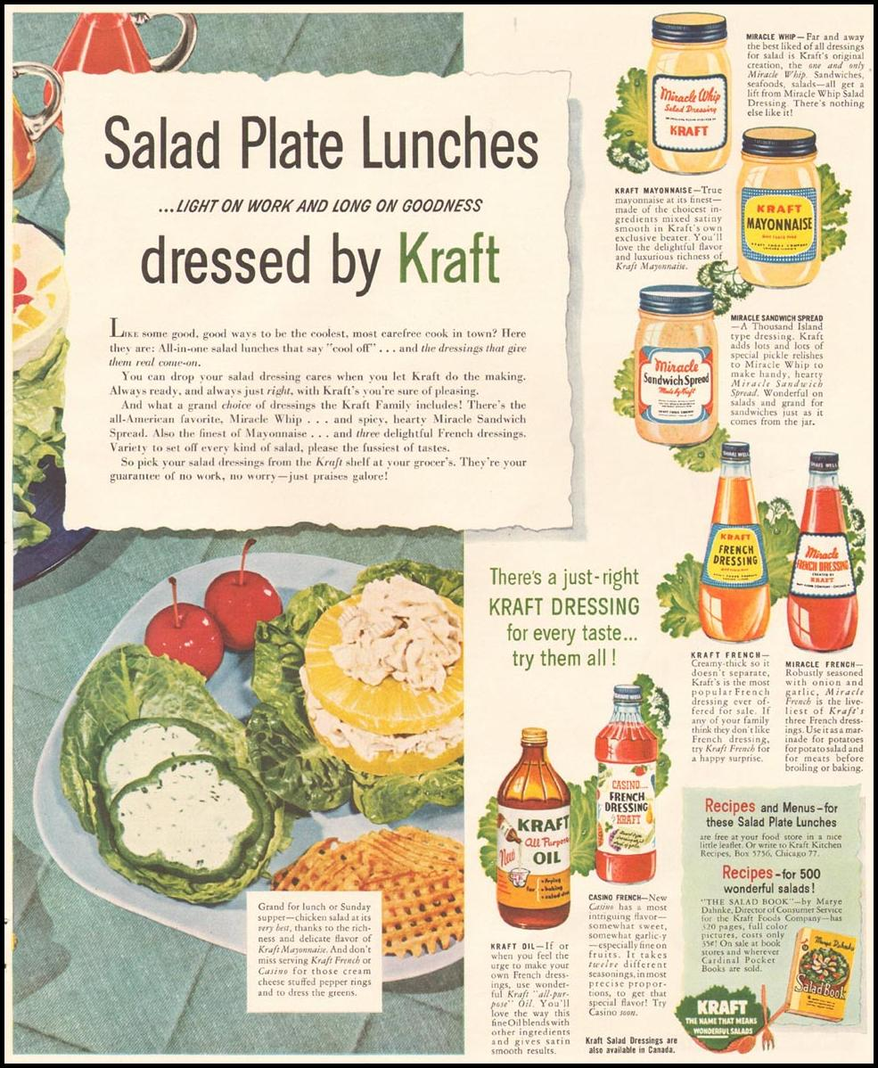 KRAFT FOODS LADIES' HOME JOURNAL 07/01/1954 p. 61
