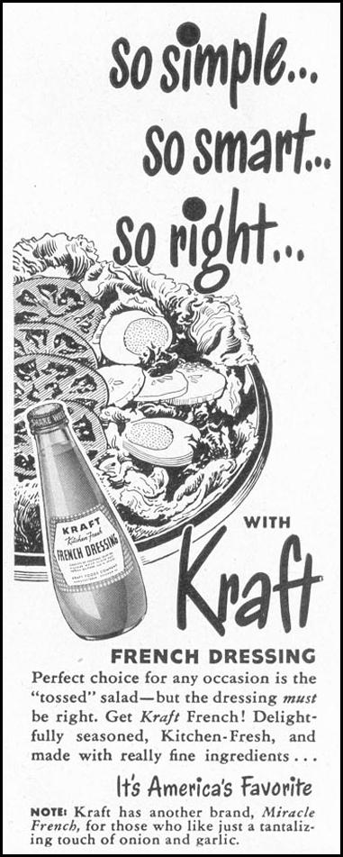 KRAFT FRENCH DRESSING LIFE 10/11/1948 p. 114