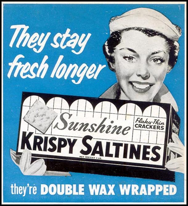 SUNSHINE KRISPY SALTINES WOMAN'S DAY 10/01/1954 p. 173