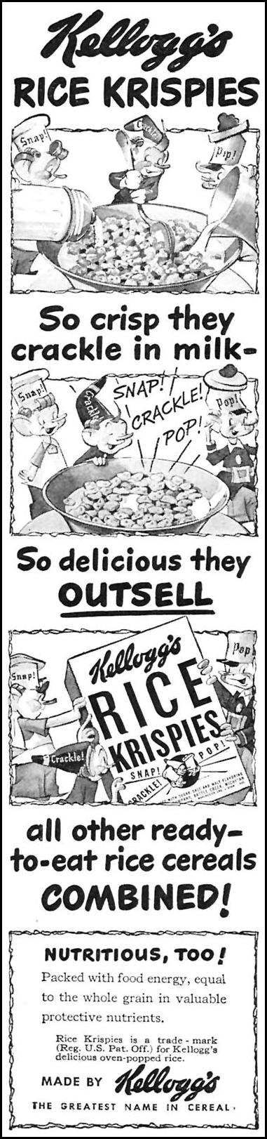 KELLOGG'S RICE KRISPIES WOMAN'S DAY 05/01/1946 p. 8