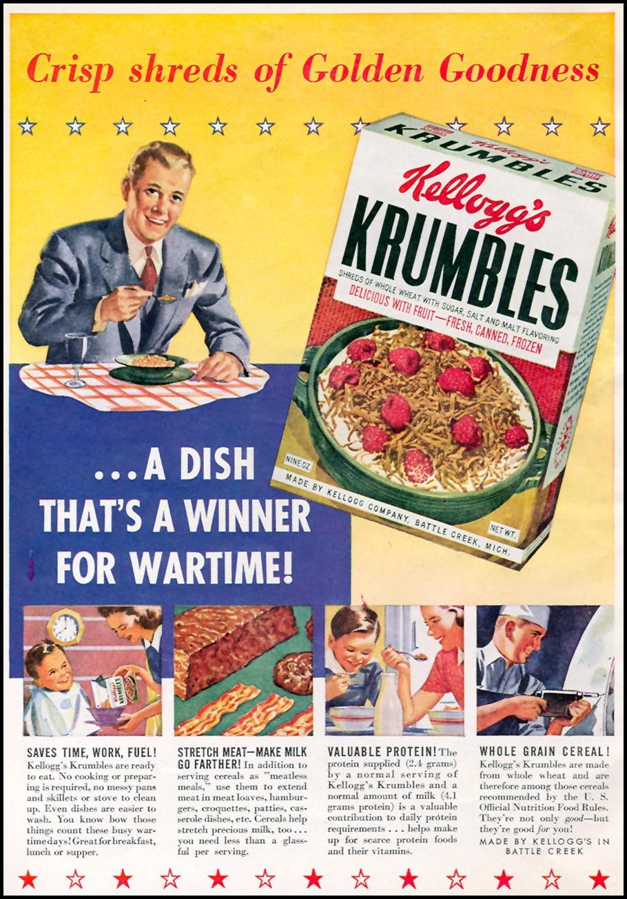 KELLOGG'S KRUMBLES WOMAN'S DAY 06/01/1943