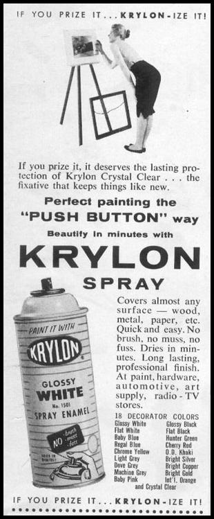 KRYLON SPRAY ENAMEL PAINT LIFE 04/08/1957 p. 19