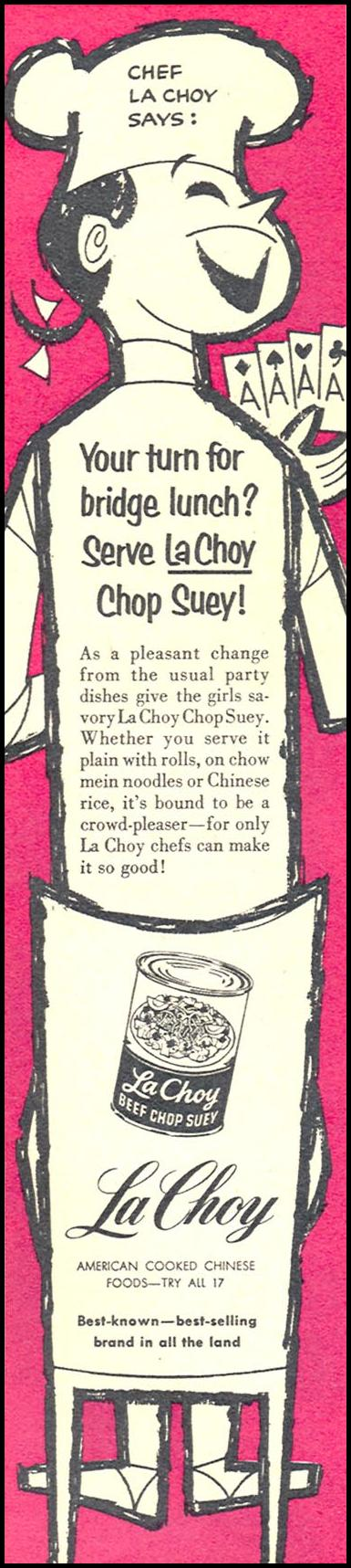 LA CHOY AMERICAN COOKED CHINESE FOODS FAMILY CIRCLE 02/01/1957 p. 16
