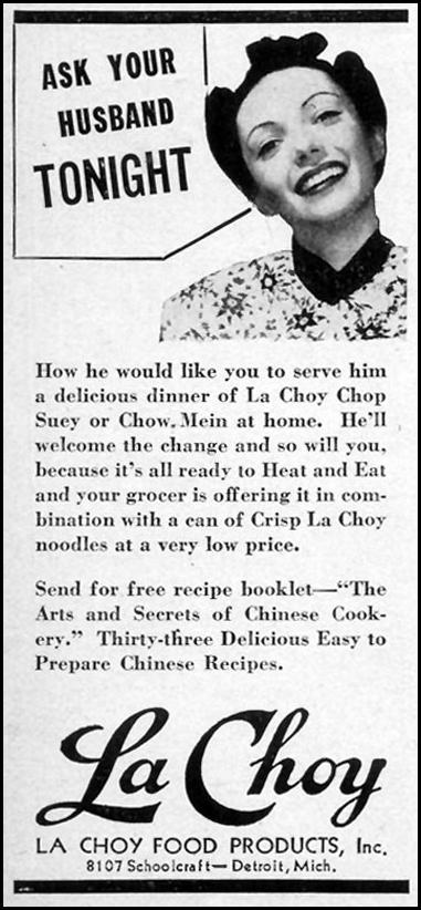 LA CHOY CHOP SUEY WOMAN'S DAY 12/01/1940 p. 2