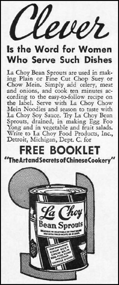 LA CHOY BEAN SPROUTS GOOD HOUSEKEEPING 01/01/1940 p. 1