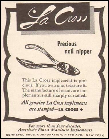 LA CROSS NAIL NIPPER LIFE 11/13/1944 p. 102