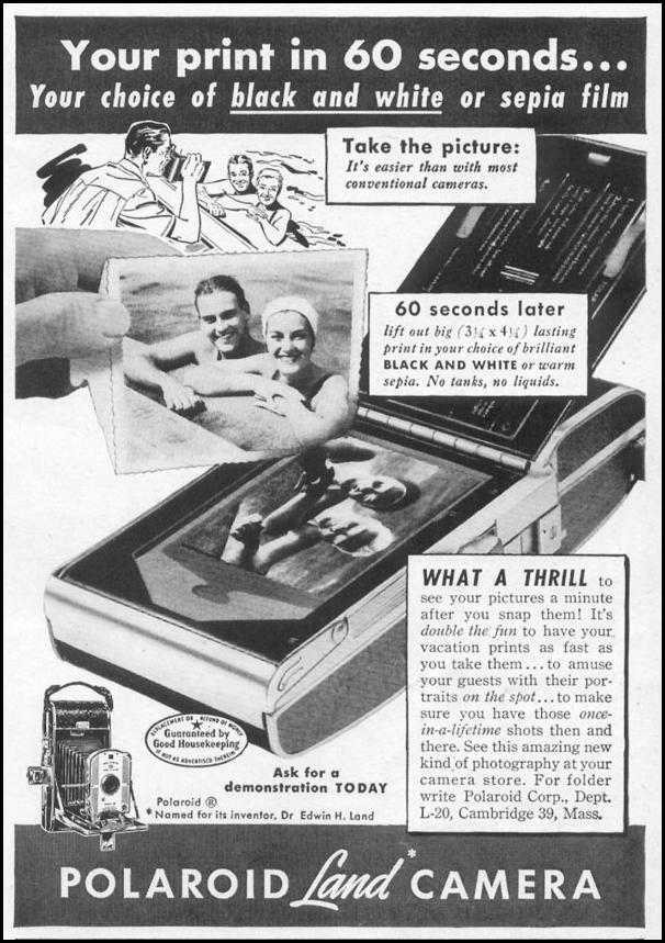 POLAROID LAND CAMERA LIFE 06/05/1950 p. 119
