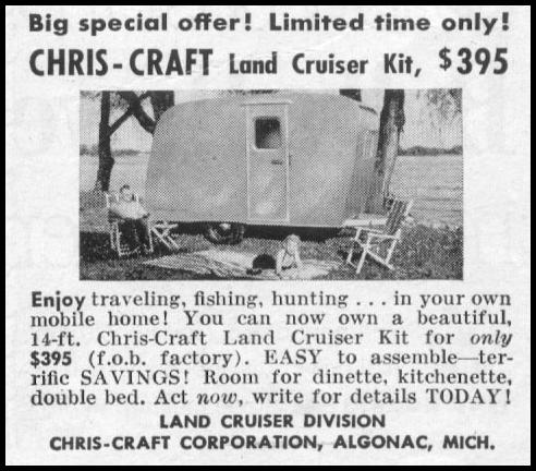 CHRIS-CRAFT LAND CRUISER TRAILER KIT LIFE 07/12/1954 p. 108