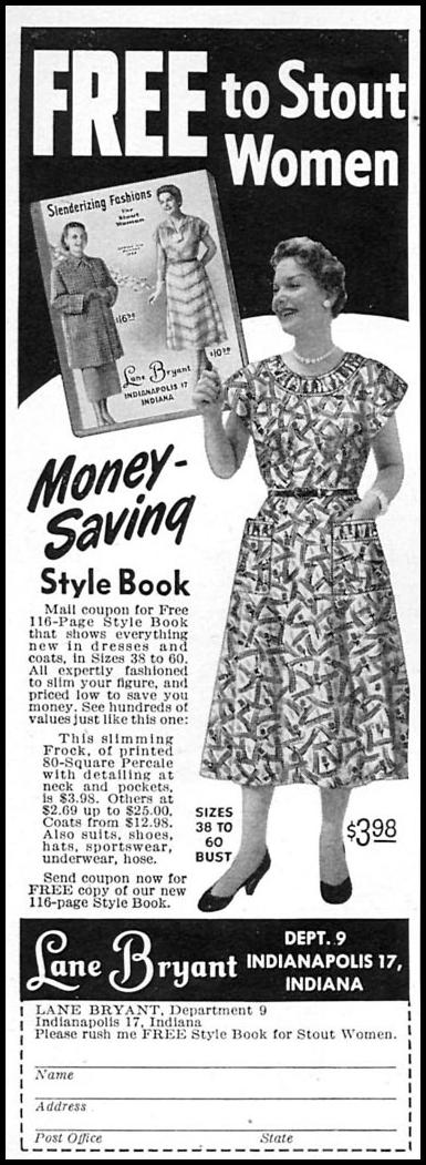 STYLE BOOK FOR STOUT WOMEN WOMAN'S DAY 02/01/1954 p. 160
