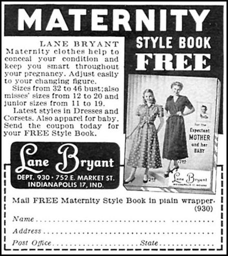 MATERNITY STYLE BOOK WOMAN'S DAY 09/01/1949 p. 106