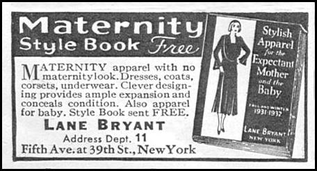 MATERNITY STYLE BOOK GOOD HOUSEKEEPING 01/01/1932 p. 166