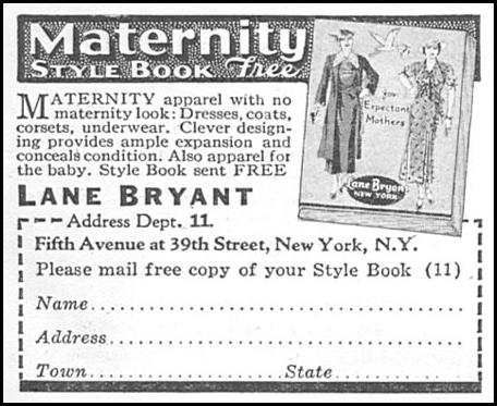 MATERNITY STYLE BOOK GOOD HOUSEKEEPING 06/01/1935 p. 204