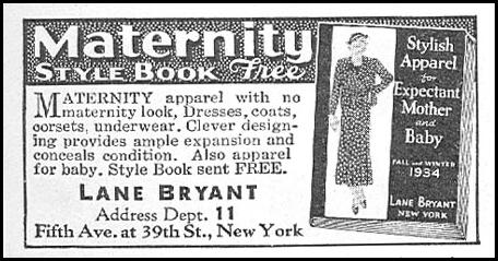 MATERNITY STYLE BOOK GOOD HOUSEKEEPING 12/01/1934 p. 222