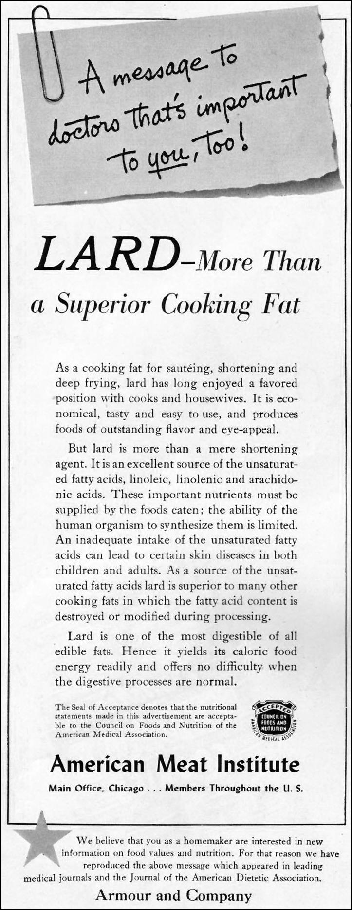 LARD LADIES' HOME JOURNAL 11/01/1950 p. 108